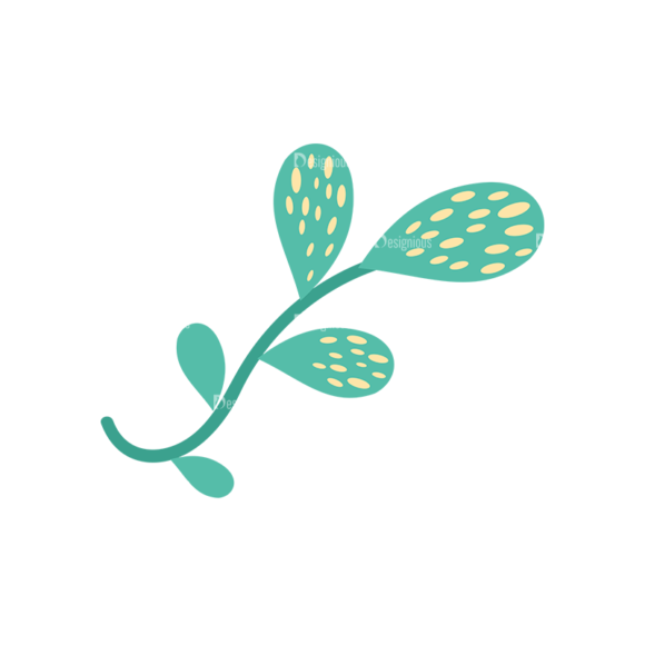 Cute Stylized Floral Vetor Leaves Svg & Png Clipart Clip Art - SVG & PNG floral