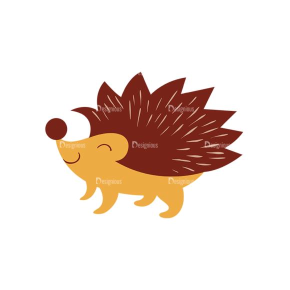 Cute Wild Animals Hedgehog Svg & Png Clipart Clip Art - SVG & PNG vector