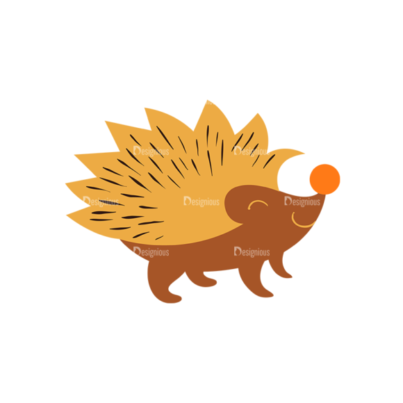 Cute Wild Animals Hedgehog Svg & Png Clipart Clip Art - SVG & PNG vector