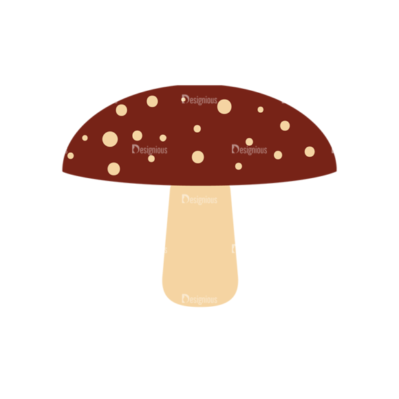 Cute Wild Animals Mushroom Svg & Png Clipart Clip Art - SVG & PNG vector