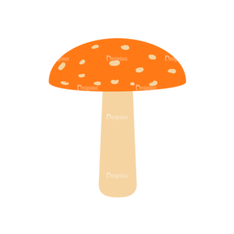 Cute Wild Animals Mushroom Svg & Png Clipart Clip Art - SVG & PNG vector