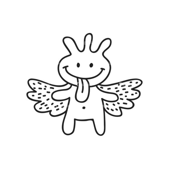 Doodle Monsters Monster Svg & Png Clipart doodle monsters vector set 8 vector monster 07