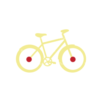 Fitness Flat Icons Bike Svg & Png Clipart Clip Art - SVG & PNG vector