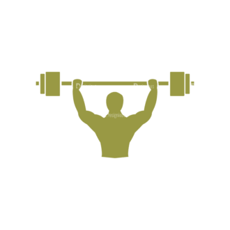 Fitness Logos Weight Lifting Svg & Png Clipart Clip Art - SVG & PNG vector