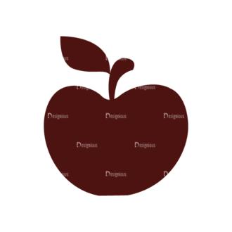 Fitness Elements Apple Svg & Png Clipart Clip Art - SVG & PNG vector
