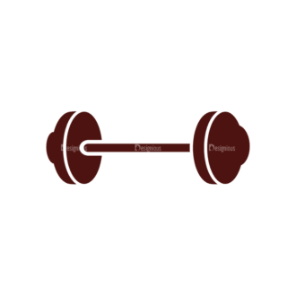 Fitness Elements Barbell Svg & Png Clipart Clip Art - SVG & PNG vector