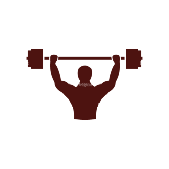 Fitness Elements Weightlifting Svg & Png Clipart Clip Art - SVG & PNG vector