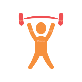Fitness Wightlifting Svg & Png Clipart Clip Art - SVG & PNG vector
