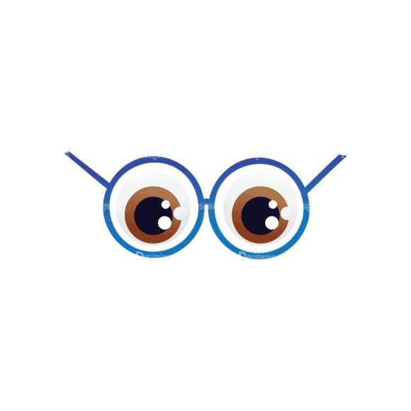 Geek Mascots Eyes Svg & Png Clipart geek mascots vector eyes 25