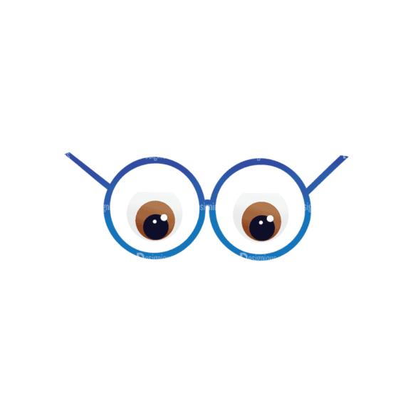 Geek Mascots Eyes Svg & Png Clipart geek mascots vector eyes 30