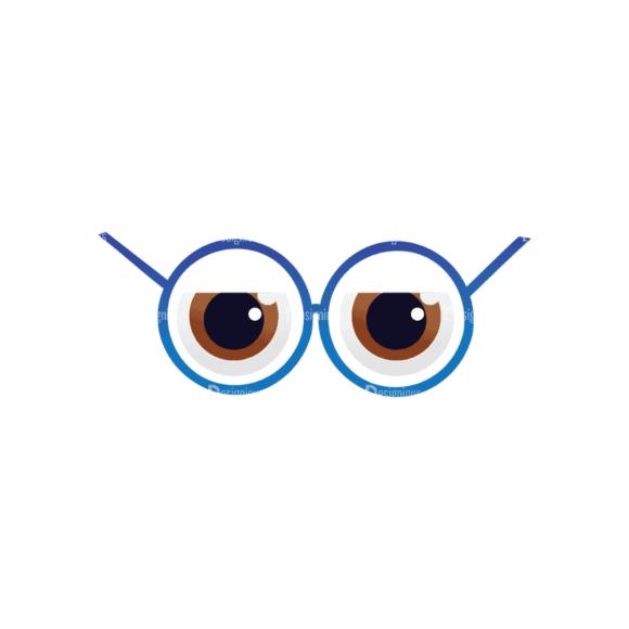Geek Mascots Eyes Svg & Png Clipart geek mascots vector eyes 31
