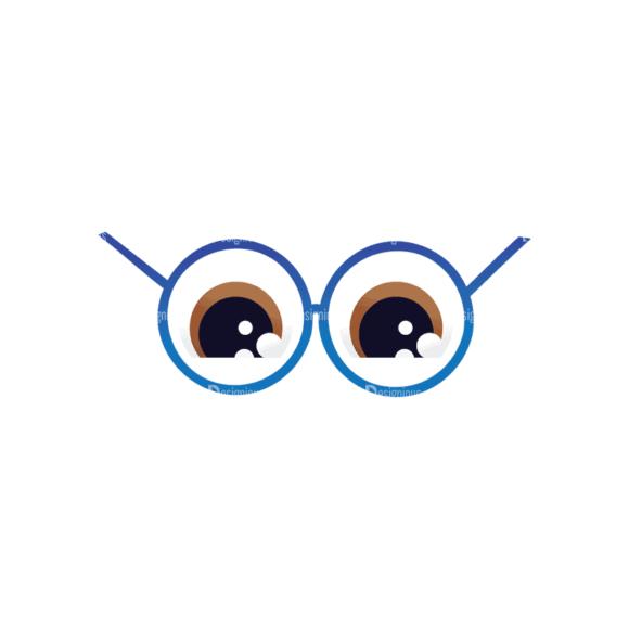 Geek Mascots Eyes Svg & Png Clipart geek mascots vector eyes 33