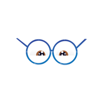 Geek Mascots Eyes Svg & Png Clipart Clip Art - SVG & PNG vector