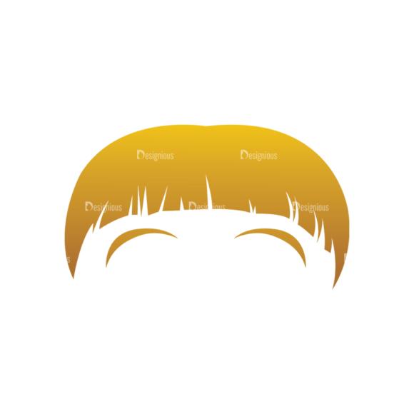 Geek Mascots Hair Svg & Png Clipart geek mascots vector hair 68
