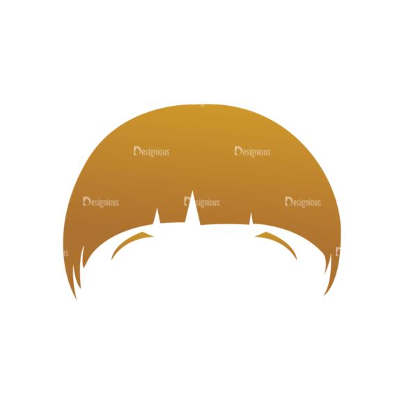 Geek Mascots Hair Svg & Png Clipart geek mascots vector hair 76