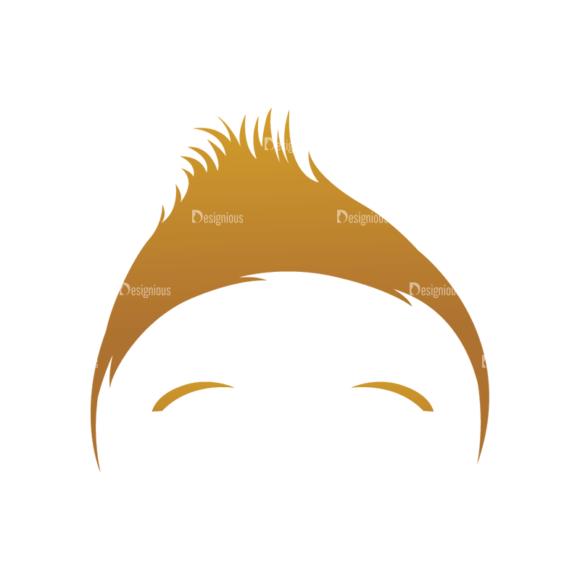 Geek Mascots Hair Svg & Png Clipart geek mascots vector hair 77