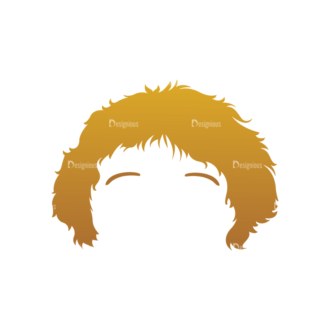 Geek Mascots Hair Svg & Png Clipart Clip Art - SVG & PNG vector