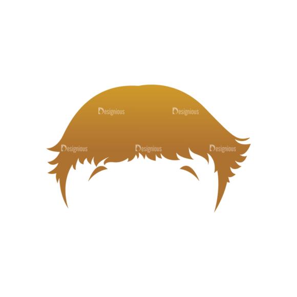 Geek Mascots Hair Svg & Png Clipart geek mascots vector hair 87