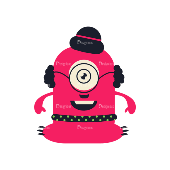 Hipster Monsters Monster Svg & Png Clipart Clip Art - SVG & PNG vector