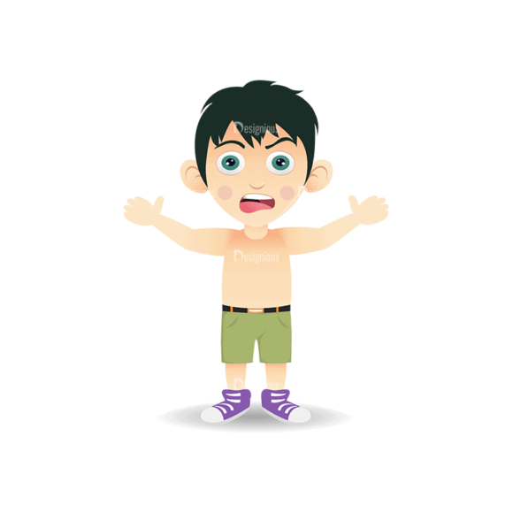 Manga Boy Boy Svg & Png Clipart manga boy vector set vector boy 12
