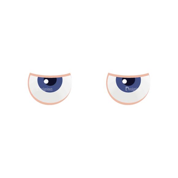 Manga Boy Eyes Svg & Png Clipart manga boy vector set vector eyes 43