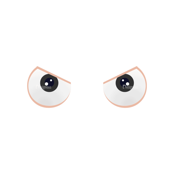 Manga Boy Eyes Svg & Png Clipart 1