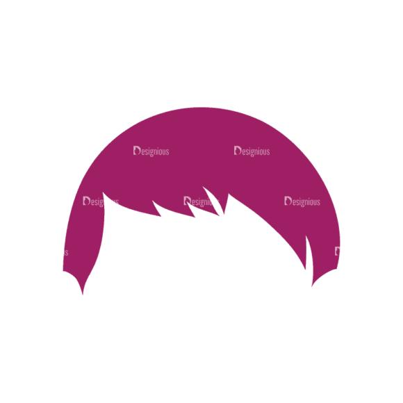 Manga Boy Hair Svg & Png Clipart manga boy vector set vector hair 25