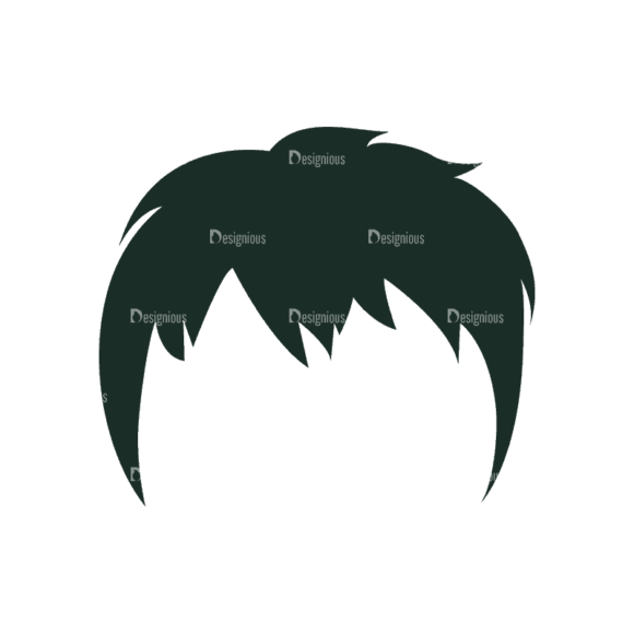 Manga Boy Hair Svg & Png Clipart manga boy vector set vector hair 26