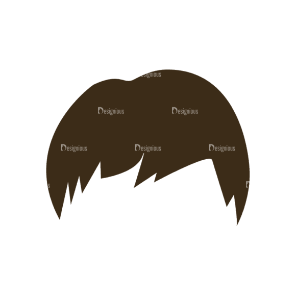 Manga Boy Hair Svg & Png Clipart manga boy vector set vector hair 27