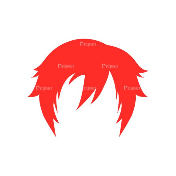 Manga Boy Hair Svg & Png Clipart manga boy vector set vector hair 33