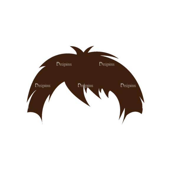 Manga Boy Hair Svg & Png Clipart manga boy vector set vector hair 34