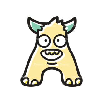 Monster Alphabet A Svg & Png Clipart Clip Art - SVG & PNG vector