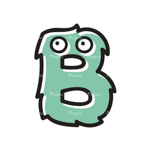 Monster Alphabet B Svg & Png Clipart monster alphabet set 3 vector B