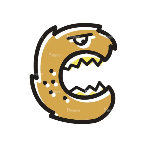 Monster Alphabet C Svg & Png Clipart Clip Art - SVG & PNG vector