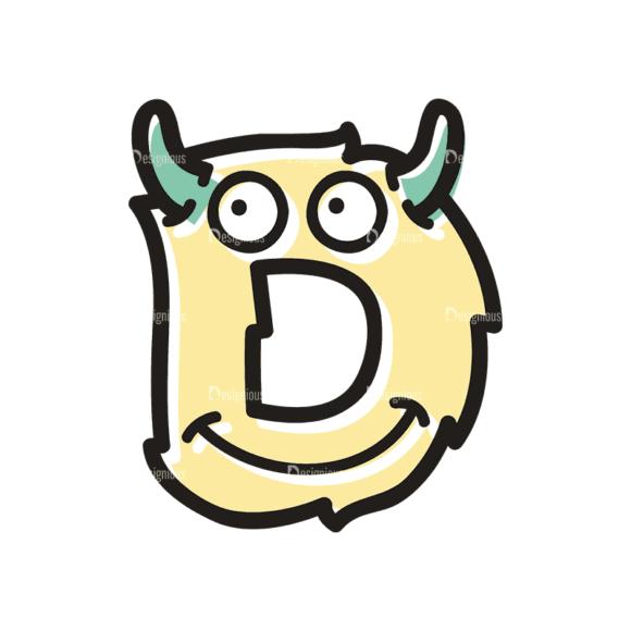 Monster Alphabet D Svg & Png Clipart monster alphabet set 3 vector D