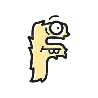 Monster Alphabet F Svg & Png Clipart Clip Art - SVG & PNG vector