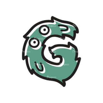 Monster Alphabet G Svg & Png Clipart Clip Art - SVG & PNG vector