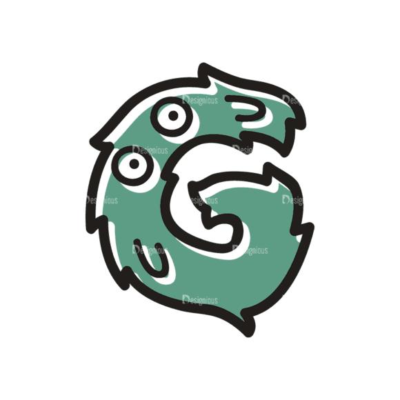 Monster Alphabet G Svg & Png Clipart monster alphabet set 3 vector G