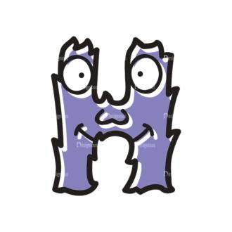 Monster Alphabet H Svg & Png Clipart Clip Art - SVG & PNG vector