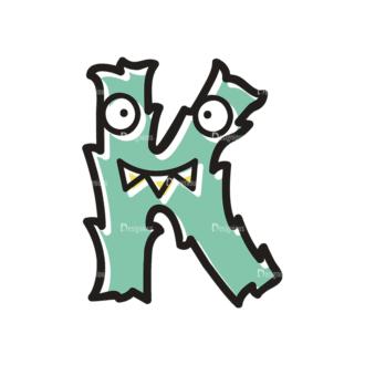 Monster Alphabet K Svg & Png Clipart Clip Art - SVG & PNG vector