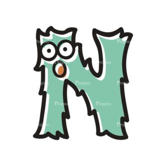 Monster Alphabet N Svg & Png Clipart Clip Art - SVG & PNG vector