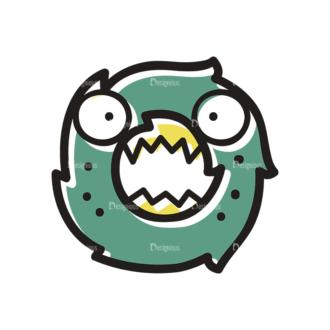 Monster Alphabet O Svg & Png Clipart Clip Art - SVG & PNG vector