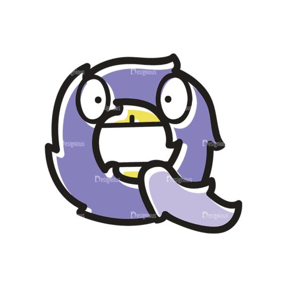 Monster Alphabet Q Svg & Png Clipart monster alphabet set 3 vector Q