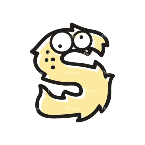 Monster Alphabet S Svg & Png Clipart Clip Art - SVG & PNG vector