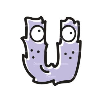 Monster Alphabet U Svg & Png Clipart Clip Art - SVG & PNG vector