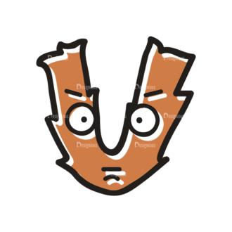Monster Alphabet V Svg & Png Clipart Clip Art - SVG & PNG vector