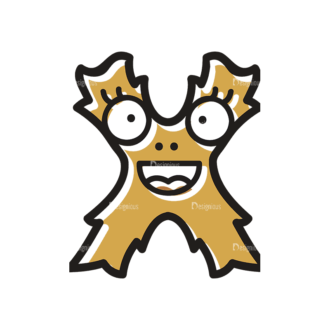 Monster Alphabet X Svg & Png Clipart Clip Art - SVG & PNG vector