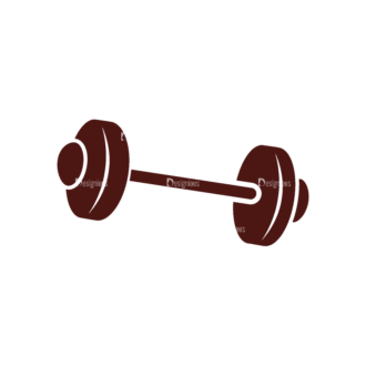 Sport Elements Barbell Svg & Png Clipart Clip Art - SVG & PNG vector