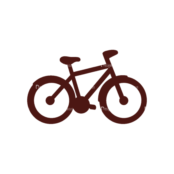 Sport Elements Bicycle Svg & Png Clipart 1