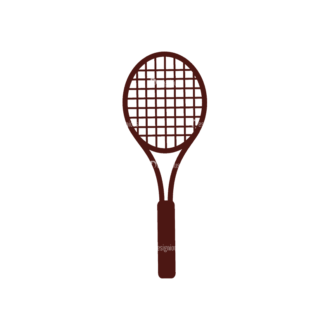 Sport Elements Racket Svg & Png Clipart Clip Art - SVG & PNG vector